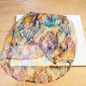 Rue21 Color Burst high-low skirt
